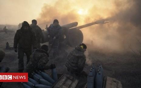 99657302 17e539c4 6512 46f2 b0cb 14e5f47f7a41 - Ukraine crisis: Five soldiers killed in clashes in east