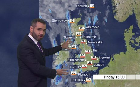 p06ftfyh - UK heatwave: Thunderstorms dampen record heat predictions