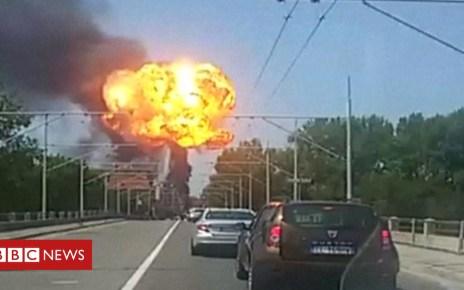 102854129 p06grnrb - Bologna tanker truck explosion leaves two dead