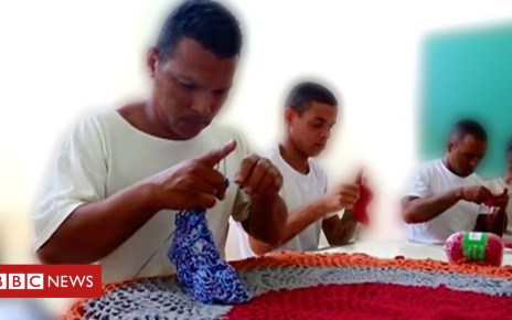 102877267 p06gwxt1 - The Brazilian criminals learning crochet in prison