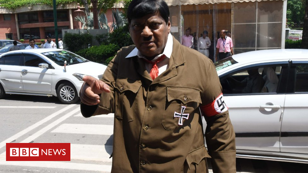 102906996 gettyimages 1013747892 - India MP shocks with Hitler costume protest in parliament