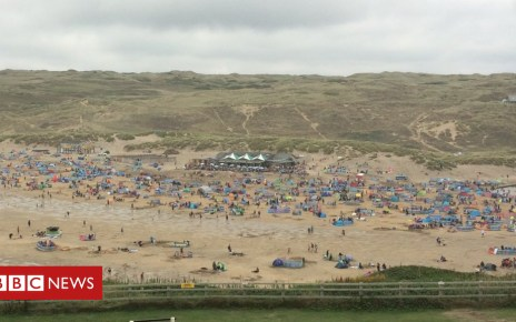 102956755 crowds2perran - Cornwall tourist overcrowding 'will not deter visitors'