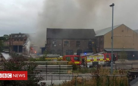 103065051 fire178 - Crews tackle fire at Emma Bridgewater pottery factory in Stoke