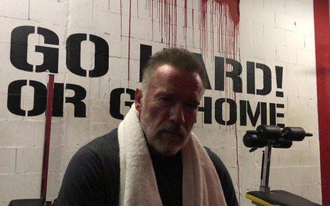 p06hbzbr - Schwarzenegger message helps inspire struggling fans