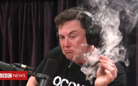 103330503 musk3 - Elon Musk smokes marijuana live on web show