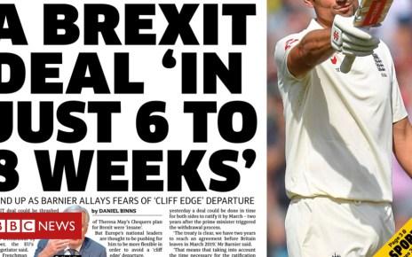 103372795 metro p1 sep 11 - Newspaper headlines: EU optimism of Brexit deal 'in weeks'
