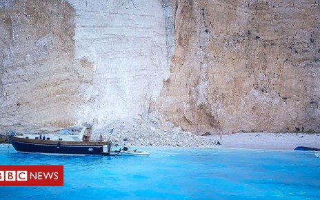 103415075 hi049254812 - Cliff collapse on Greece's 'shipwreck beach' injures tourists