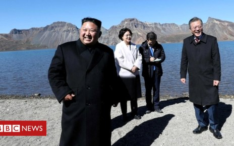 103507788 049412812 1 - North Korea's Kim wants fast denuclearisation, South's leader says