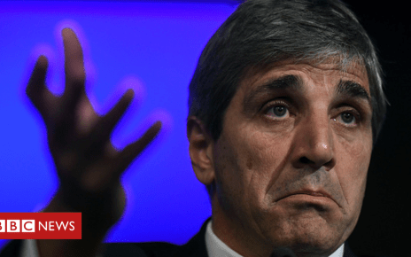 103575367 caputo - Argentina's central bank boss Luis Caputo quits after three months