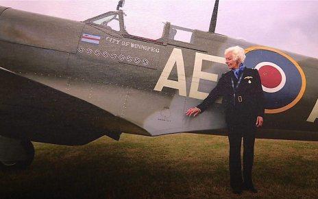 p06frv25 - Memorial held for WW2 Spitfire pilot Mary Ellis
