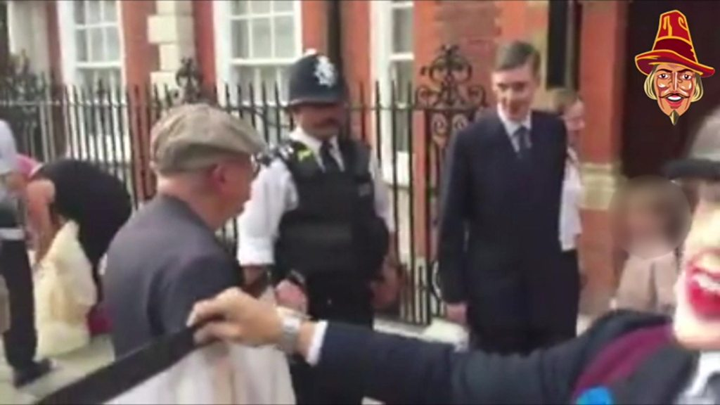 p06kzl42 - 'Abhorrent' Jacob Rees-Mogg protest condemned