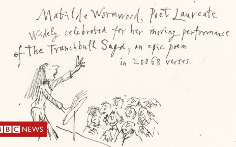 103616375 matilda poetlaureatebbcnewsonline - Sir Quentin Blake reimagines Matilda 30 years on