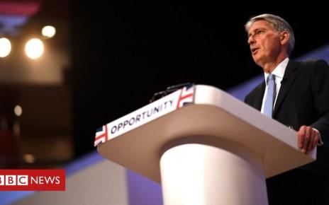 103649471 hammond.conferince.2018.g - Chancellor warns over 'stalling' tech tax talks