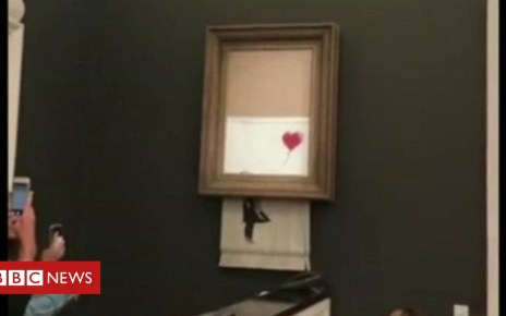 103749366 p06n4y2b - Banksy artwork shredded at auction
