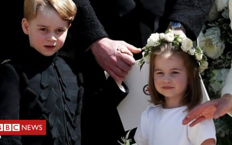 103798778 40cb005c ab6d 4fe5 83c8 cdc3803d9743 - Eugenie wedding: George and Charlotte among pageboys and bridesmaids
