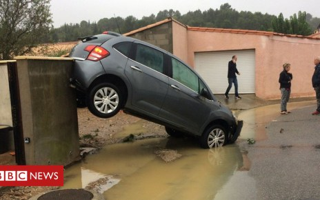 103866635 hi049970342 1 - France weather: Red alert as flash floods kill six in south-west