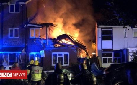 103946922 harrowfire - Harrow fire: Person missing in suspected gas blast