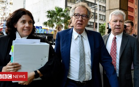 103971774 rush epa - Geoffrey Rush in tears at 'groping' defamation case