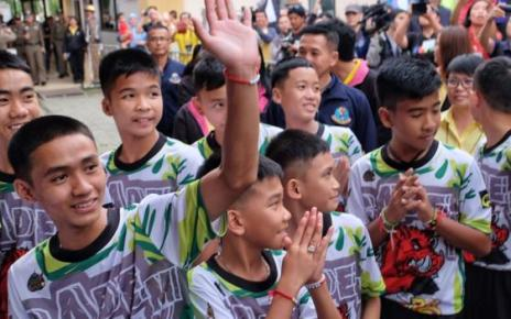 104059189 thaicavekids getty - Thai cave boys to watch Manchester United v Everton at Old Trafford