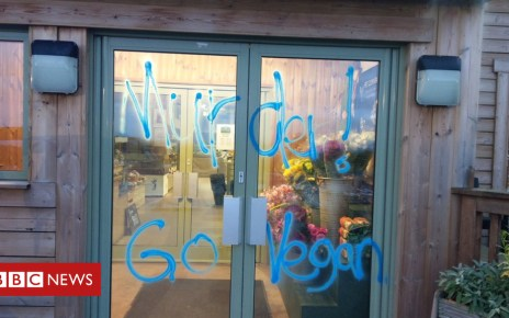 104191157 greendalefarmshopvandal - Death threats at 'pick your own turkey' farm shop