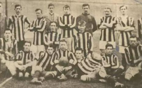 104257461 antrim 1812 all ireland finalists 464x261 - The football star who died fighting in British Army in WW1
