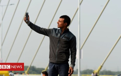 104397459 gettyimages 1061780018 - India's Signature Bridge a big draw for selfie-seekers