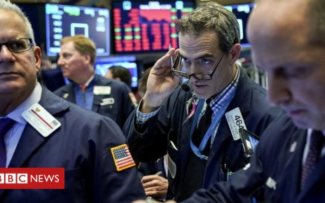104406879 downew - Wall Street sees red as tech shares plunge