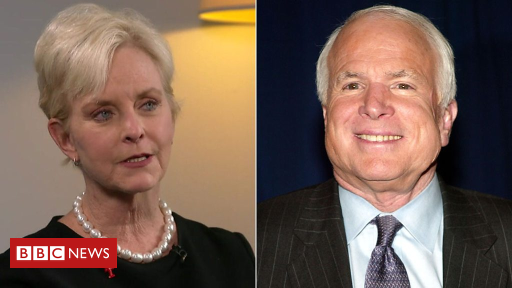 104418425 p06scrm5 - Cindy McCain: I'll never get over Trump's war hero slur on husband