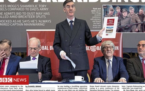 104422689 met21 - Newspaper headlines: Threat to Theresa May from Brexit's 'Dad's Army' abates