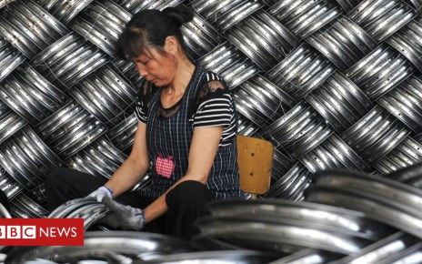 104423690 chinafactorysteelwoman - US says China has 'not altered' unfair trade practices
