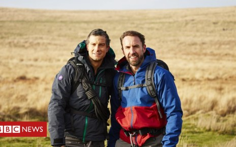 104467086 c97c4157 fc13 47b5 9e1e 7d2e4e419fbf - Bear Grylls tests Gareth Southgate in TV mission