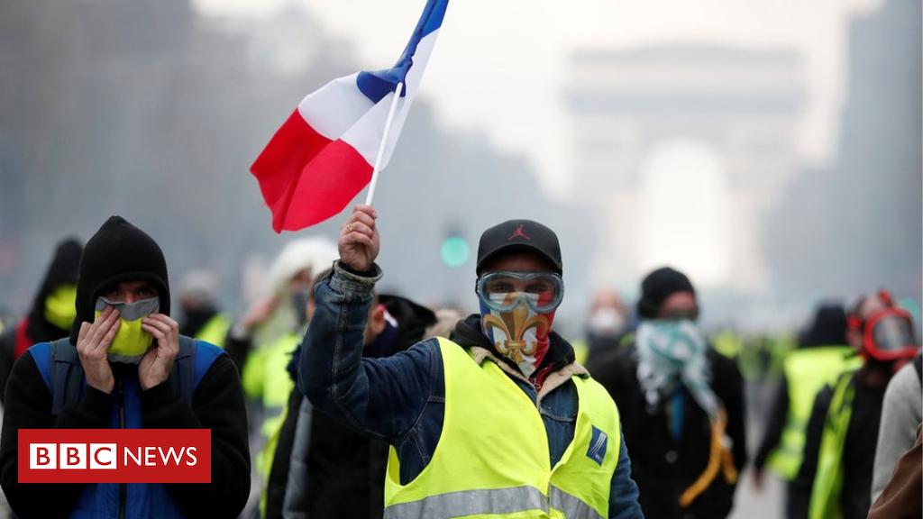 104507570 hi050804994 - France fuel protests: Macron drives ahead amid unrest