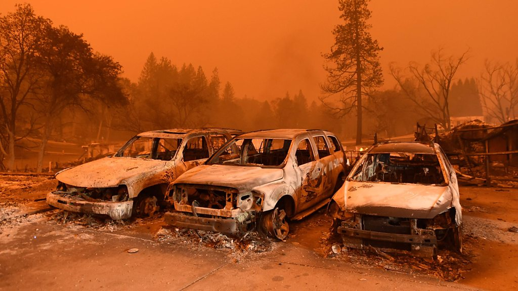 p06rclm1 - California wildfires: Death toll rises to 25