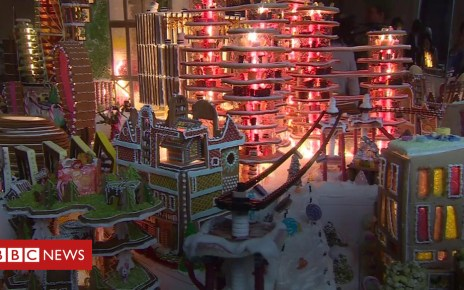 104690389 p06tzm42 - Architects make 'ideal' city out of gingerbread