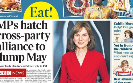 104696355 thetimes saturday8thdecember frontpage - Newspaper headlines: A cross-party alliance to 'dump May'?