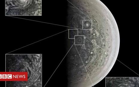 104760551 vorticesatthesouthpole 1 - Nasa's Jupiter mission Juno reveals giant polar storms