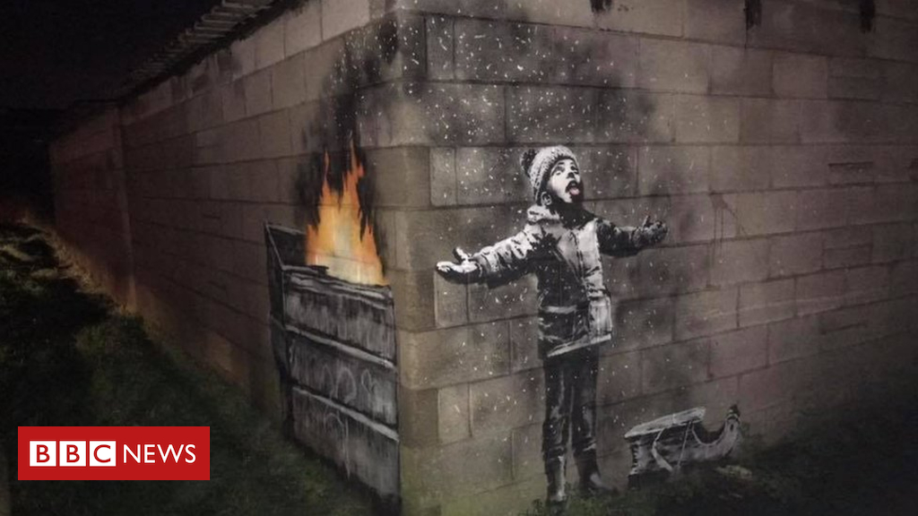 104872283 banksyfb - Port Talbot Banksy owner 'should cut it down'