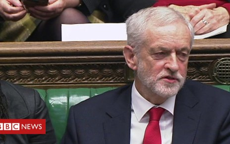 104878283 p06w22wg - PMQs: Does Corbyn call May a 'stupid woman'?