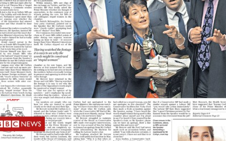 104886216 telegraph3 - Newspaper headlines: 'Panto politics' for MPs at end of term