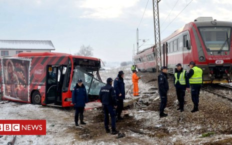 104915245 hi051283708 - Serbia train crash: Five dead as student bus cut in half