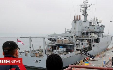 104919817 hi051283657 - Gavin Williamson: UK ship in Ukraine 'sends message to Russia'