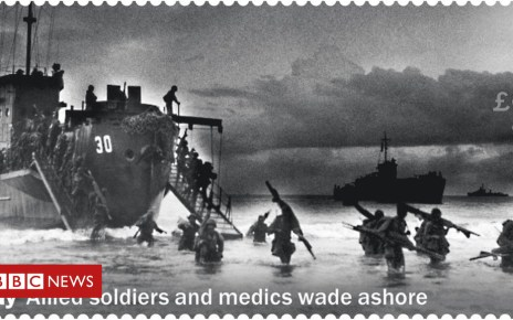 104964013 royalmailstamp - Royal Mail criticised for D-Day stamp mix-up