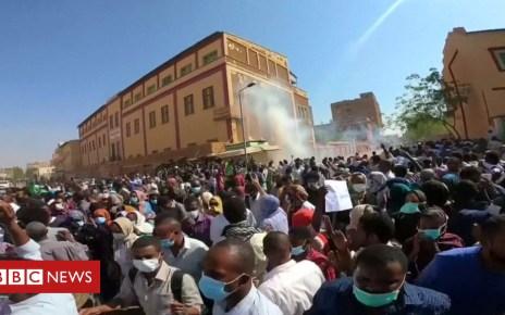 104971114 de27 - Tear gas used as Sudan protests continue