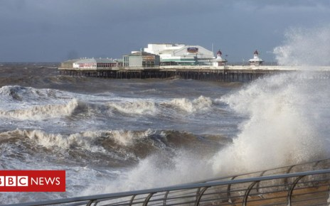 105088405 blackpoolnorthpier - Woman swept into sea on Blackpool promenade