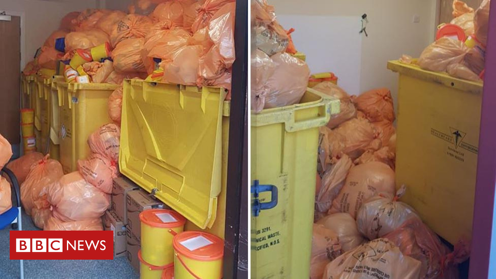 105153224 waste1 - Clinical waste 'backlog' pictured at North Lanarkshire health centres