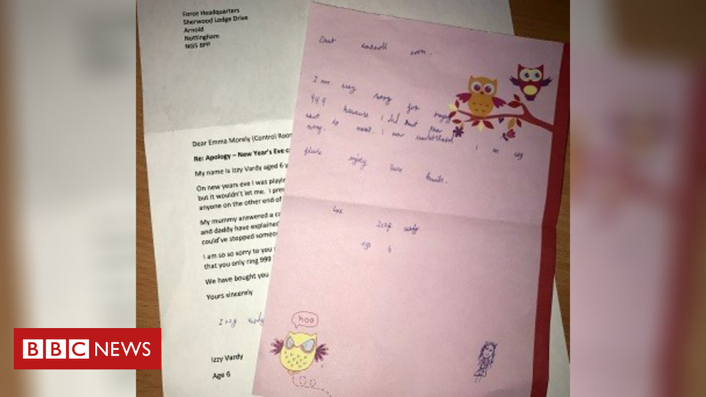 105159957 lettercrop - Girl, 6, 'sorry' letter over New Year's Eve 999 call