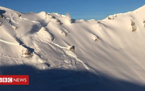 105216442 p06yc557 - Explosives trigger controlled avalanches in Swiss Alps
