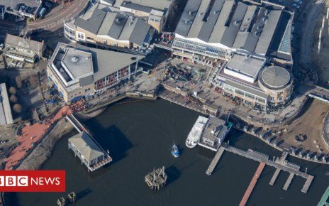 105250182 cardiffbaymermaidquayaerial - Body found in water at Cardiff Bay's Mermaid Quay