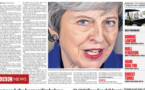 105252941 sundaytimes - Newspaper headlines: 'May in meltdown' and 'Bercow may stay as speaker'