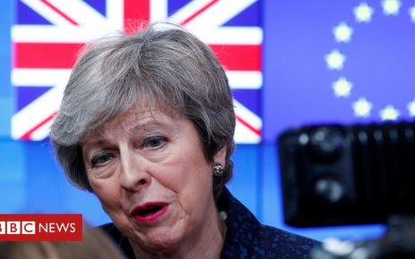 105558590 may - Brexit: Theresa May and Leo Varadkar to meet in Dublin